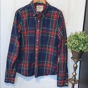 Abercrombie plaid shirt classic preppy button down